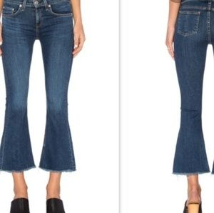 Rag and Bone Cropped Flare Paz Denim Jeans Size 25